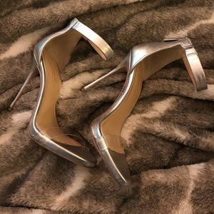 Clear & silver Vince Camuto Heels